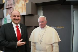 Die Audienz beim Papst darf natürlich auch nicht fehlen. Ich war nicht umsonst jahrelang Messdiener ...