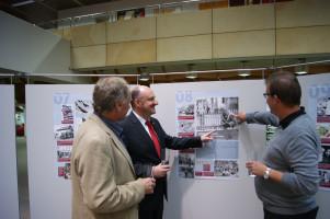 Diskussion mit Karl-Heinz Spiegel, Leiter der Akademie Frankenwarte, und Klaus Schmidt, Bürgermeister von Waldbüttelbrunn