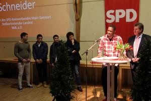 Vier Asylbewerber erzählten ihre Geschichte und was sie in Deutschland erreichen wollen: Ausbildung, Beruf, Heimat finden