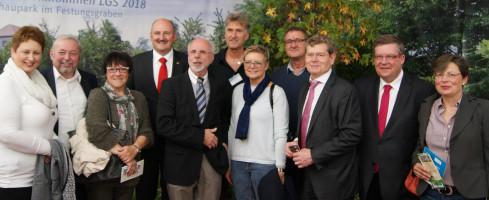 Gruppenbild am Stand der Landesgartenschau 2018.