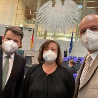Im Plenum mit Bärbel Kofler, der Menschenrechtsbeauftragten der Bundesregierung und unserem Arbeitsminister Hubertus Heil