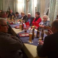 Brotzeit, Bier und Politik in Lohr