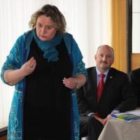 Kerstin Tack bei ihrem Vortrag