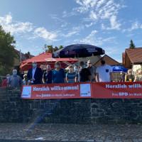 Brotzeit, Bier und Politik in Zellingen