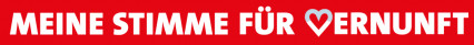 Logo einzeilig Stimme für Vernunft