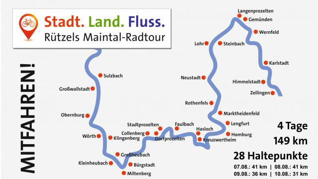 Maintalradtour - 4 Tage quer durch den Wahlkreis