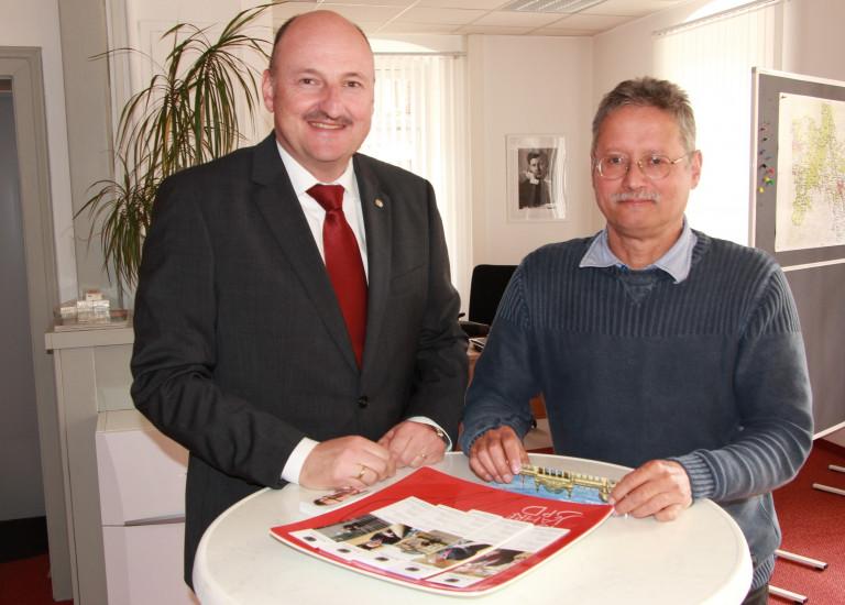 Treffen in meinem Gemündener Büro mit den frisch zum ehrenamtlichen Richter berufenen Klaus Köhler